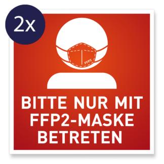 FFP2-Pflicht Aufkleber Schild Hinweis